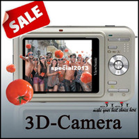 Wholesale 3D camera digital camera with screen Champagne color