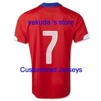 Chile 2014 A. SANCHEZ Home Soccer Jersey, Customized Thai Qua...