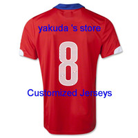 Chile 2014 A. VIDAL 8 Home Red Soccer Jerseys, Customized Tha...