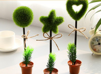 wholesale green plants ball point pen novelty capsule ballpen creative stationery childrens gifts office school supplies cheap office plants
