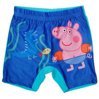 Boy Swim Trunks 2/3y-3/4y-4/5y-5/6y-7/8y New arrival Boy swimming shorts swimwear Cartoon Printed peppa pig swimming trunks kids bathing suits