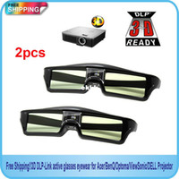 Wholesale new Hz D IR Active Shutter Glasses For BenQ W1070 W700 W710ST DLP Link Projector