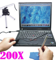 Wholesale 200X USB Digital MP Microscope Endoscope Camera Vista XP Mac OS Mini Portable LED Endoscope Otoscope Camera