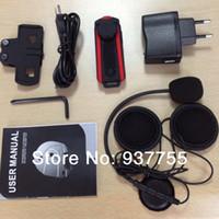 Wholesale x1000M Motorcycle BT Bluetooth Multi Interphone Headsets Helmet Intercom