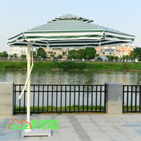 Wholesale Aluminum outdoor garden unilateral side post umbrellas outdoor cafe tables and chairs umbrella indoor balcony Square