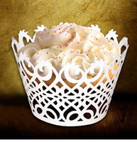 Cupcake Wrapper and Boxes and decoration - Cheap Laser Cut Cupcake Wrappers Wedding Favor Birthday Party Baby Shower cake paper cups cupcake wrapper holders wedding decorations A02