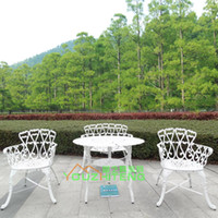 Wholesale Cast aluminum outdoor furniture outdoor dining furniture and chairs combination Leisure Hotel Terrace Garden Club Teahouse