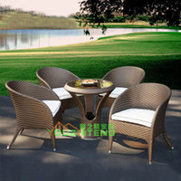Wholesale Outdoor furniture garden leisure suit combination cafe tables and chairs for outdoor living room chairs rattan chair rattan sets balcony