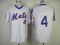 Wholesale Mets Lenny Dykstra White Pinstripe Baseball Jersey Cooperstown Collection Team Sports Jerseys High Quality Retro Sports Jerseys