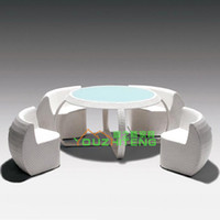 Wholesale Outdoor tables and chairs ensemble PE Villa Leisure Club Hotel imitation rattan outdoor tea cafe