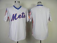 Wholesale Mets Blank Baseball Jerseys White Blue Pinstripe Baseball Jersey New Hot Sale Sports Jerseys High Quality Embroidered Baseball Uniforms
