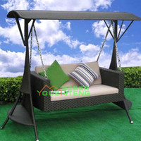 Wholesale Children s outdoor leisure garden rattan rocking chair hanging baskets wrought iron patio furniture indoor wicker chair