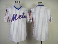 Men pinstripe baseball jerseys - Mets Blank Baseball Jerseys White Blue Pinstripe Baseball Jersey New Hot Sale Sports Jerseys High Quality Embroidered Baseball Uniforms