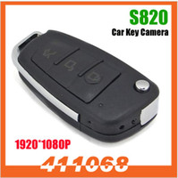 None   HD 1080P CCD S820 Spy car key camera with IR night vision Motion Detection Mini DV DVR Keychain hidden camera video recorder