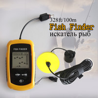 Wholesale Portable Wireless Sonar Fish Finder Alarm Transducer Fishfinder M AP Ice Fishing Equipment Depth Sounder