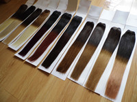 18 20 inch 100g OMBRE hair weaves weft extensions Indian Rem...