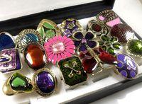 job lots - 20pcs Vintage Enamel bronze Rings women s fashion Job Jewelry