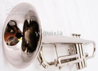 Bb Yellow Brass Nickel Plated New silver BAND APRVD. BRASS Bb Trumpet +CASE+WARRANTY