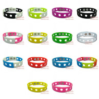 Wholesale Free DHL Silicone Wristbands Kids Charm Bracelets for Jibbitz Shoe Charms decorate your bands Mixed colors CM CM