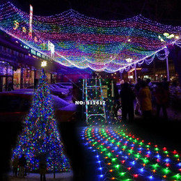 Wholesale 8 Modes New Colorful LED Net Mesh Decorative Fairy Lights For Christmas Wedding Party Twinkle Lighting EU TK1117 Z