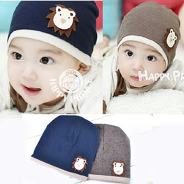 Wholesale 2014 New Popular Children s lion cap Newborn cap Infant hat Cartoon animal lion style Beanie Skull Cap Can mix colors Melee