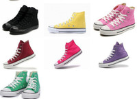 Wholesale Dropship Sneakers for Women Men Colors Classic High Canvas Shoes Casual Shoes