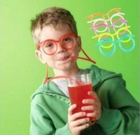 Wholesale Novelty items Amazing Silly Straw Drinking Glasses Eyeglass Frames Piped best gift for chil
