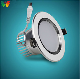 Wholesale SMD silver facemask vac recessed W led downlight Grit blasting facemask AC85 V Technology paramet