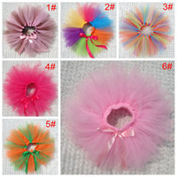 Wholesale 2014 new baby girls tutu skirts kids lace Ruffles skirt infant gauze pettiskirts children bow cake skirt child colorful dance wear skirt