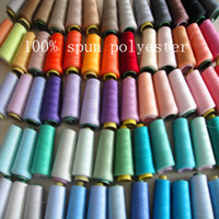 Wholesale Sewing Thread of Weaving Spun Polyester kinds of color more High Intensity Nylon threads yds
