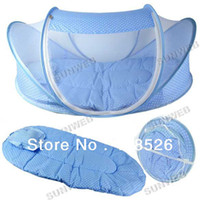 100% Polypropylene Cotton Column Infant Bed Canopy Baby Mosquito Net Cotton-padded Mattress Pillow Tent Foldable Portable dropshipping 11568