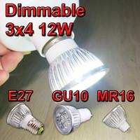 Wholesale DHL High power CREE Led Lamp par Dimmable W W W E27 GU10 Led Light V Spotlight led bulb downlight