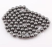 Fashion wholesale magnetic hematite beads - MM Magnetic Hematite Beads Round Black Shamballa Hematite Stone Beads Ball ZBE08