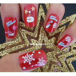 Wholesale Hot Fashion Sheet set Christmas Mix Colors Snow Snowflake D DIY Nail Art Stickers Decals Decorations F