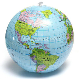 Wholesale Globe Map Inflate Inflatable Earth World Teacher Ball Geography Detailed Illustration Teaching Aid Toy Baby Kid dandys