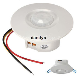 Wholesale Bipolar Design Three wire Degree Mini Recessed PIR Ceiling Occupancy Motion Sensor Detector Switch dandys