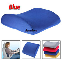 Seat Covers & Supports auto lumbar support cushion - New Blue Memory Foam Lumbar Back Support Cushion Pillow for Home Car Auto Seat Chair dandys