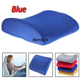 Promotion oreillers de soutien lombaire Nouveau bleu mémoire mousse arrière Support coussin oreiller lombaire pour dandys Accueil voiture Auto siège chaise livraison gratuite
