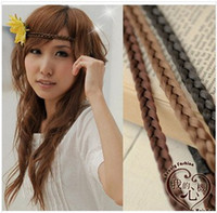 Headwear Yes Solid Free shipping 5pcs lot 2014 new wig braid hairbands Hot-sale hair accessories Popular head wraps Good quality headbands Cheap