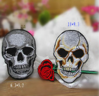 Wholesale Embroidered Punk skull Iron ON Patch DIY SEWING CRAFT