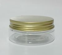 Plastic PET Skin Care Cream 50g ml gold cap Plastic Cosmetic Cream Bottle DIY Mask packaging Jar Bottle