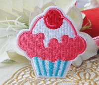 Wholesale Embroidered Cherry Cupcake Iron ON Patch DIY SEWING CRAFT cm