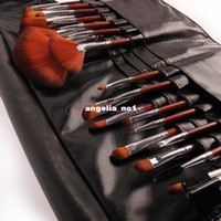 leather tool belts - Professional Brush Set For Salon Use Makeup Brushes tools With Waist Belt Leather Bag