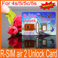 Wholesale Original RSIM Air Unlock Card IOS x x R Sim RSIM R SIM Air2 Unlock Iphone S C S Sprint Verizon SMS G G G