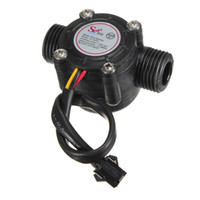 Wholesale 1 Pc Water Flow Sensor Flowmeter Hall Flow Sensor Water Control L min MPa
