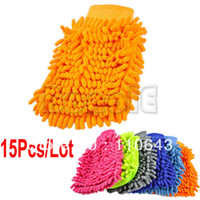 Wholesale 15pcs New Hot Sale Car Wash Glove Microfiber Chenille Auto Cleaning Cloth Car Cleaning Glove Drop shipping
