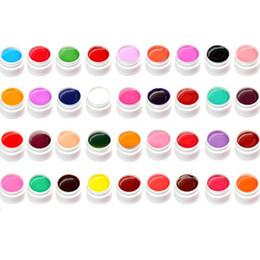 Wholesale 36 Pots Shiny Cover Pure Colors UV Gel Nail Art Tips Extension Manicure Decor