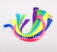 Mix Color Straight Synthetic Hair New Hairpiece Clip Hair Wig Clip Piece Hairpin Highlight Bleach and Dye Straight Hair Extension Barrette Headwear Wholesale ZH20