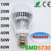 Wholesale E27 LED Globe Ball Bulb Lamp SMD W w w w w w w led spotlight Cold white warm white B22 Led Bulb Lamps