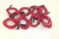 Cable aux interface - 3 mm Male to Male Stereo Audio Aux Extension Cable for headphone for iphone4 s s New red Interface Fedex